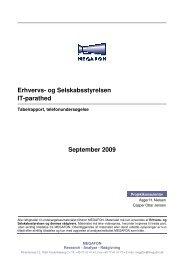 Erhvervs- og Selskabsstyrelsen IT-parathed September 2009