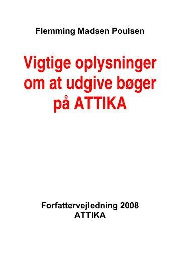 Vigtige oplysninger om at udgive bøger på ATTIKA