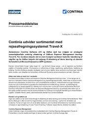 Continia udvider sortimentet med rejseafregningssystemet Travel-X