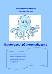 [pdf] Ergoterapeut på akutmodtagelse - Ergoterapeutforeningen