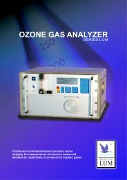 Ozone Gas Analyzer LUM - Anseros
