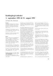 Koldingbegivenheder 1. september 1992 til 31. august 1993