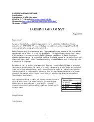 Sanchar 99, september 2006 - Lakshmi Ashrams Venner