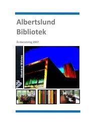 Årsberetning 2007 - Albertslund Bibliotek