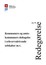 Kommuners og amtskommuners deltagelse i erhvervsdrivende ...
