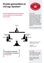 Hvordan gennemføres en civil sag i byretten? - Domstolene