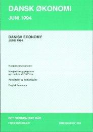 Dansk økonomi, juni 1994 - De Økonomiske Råd