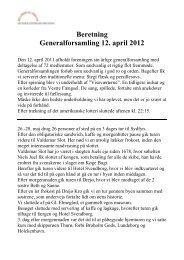 Beretning Generalforsamling 12. april 2012