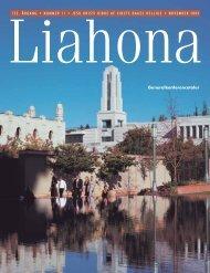 November 2003 Liahona - Jesu Kristi Kirke af Sidste Dages Hellige