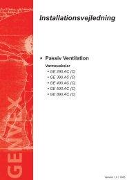 Installationsvejledning - Genvex