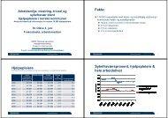 Fakta: Hjelpepleiere Sykefraværsprosent ... - Helse Midt-Norge