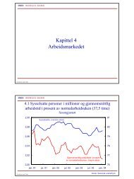 Arbeidsmarkedet - Norges Bank