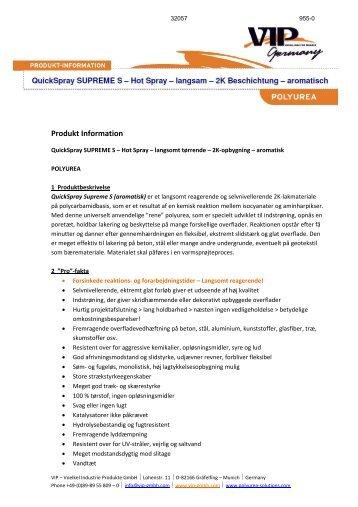 Produkt Information - Baden-Jensen A/S