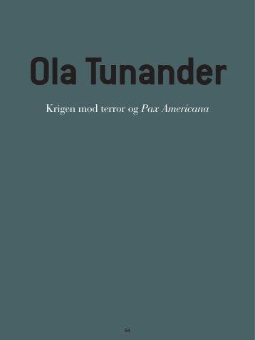 """Ola Tunander: """"Krigen mod terror og Pax Americana"""". Oversættelse i ..."""