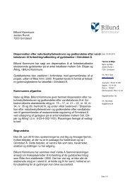 Billund Kommune Jorden Rundt 7200 Grindsted Dispensation efter ...