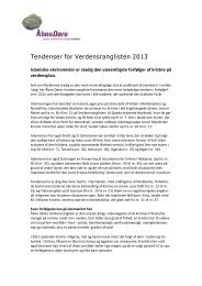 Trends for VRL2013 - Åbne Døre