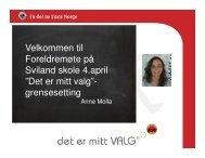 Presentasjon om grensesetting - Minskole.no
