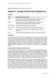 Kapitel 2 - Joseph Smiths New England-arv - Jesu Kristi Kirke af ...