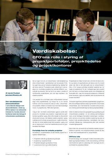 Værdiskabelse: CFO'ens rolle i styring af projektporteføljer - Basico