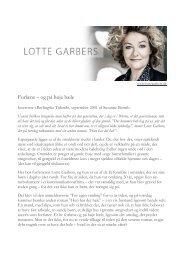 Berlingske Tidende - Lotte Garbers