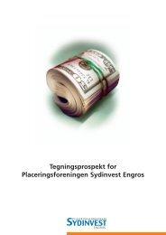 tegningsprospekt - Sydinvest International
