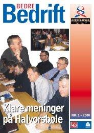 Bedre Bedrift nr 1 - 2000 - Hovedorganisasjonenes Fellestiltak