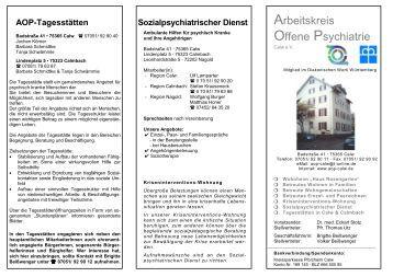 Arbeitskreis Offene Psychiatrie - aop-calw.de