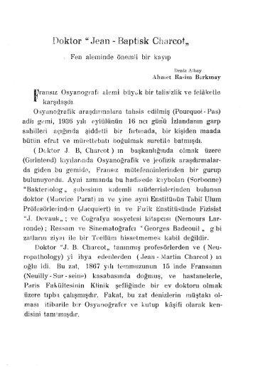 """Doktor"""" Jean - Baptisk Charcot"""""""