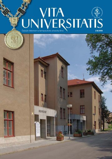 Časopis Veterinární a farmaceutické univerzity Brno 2 2008