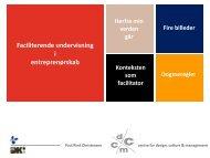 Faciliterende undervisning i entreprenørskab - Idea