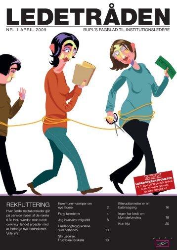 Her kan du gratis downloade Ledetråden nr. 1/2009 - Bupl