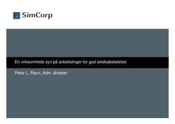 Se Peter Ravns præsentation - Corporate Governance