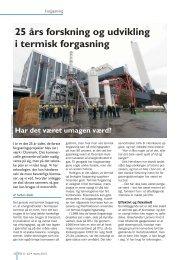 25 års forskning og udvikling i termisk forgasning - Biopress