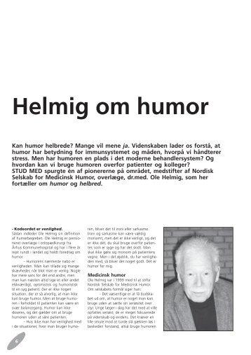 Helmig om humor - Stud. Med.