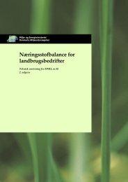 Næringsstofbalance for landbrugsbedrifter - DCE - Nationalt Center ...