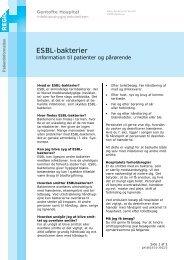 ESBL-bakterier - EPIS - Gentofte Hospital