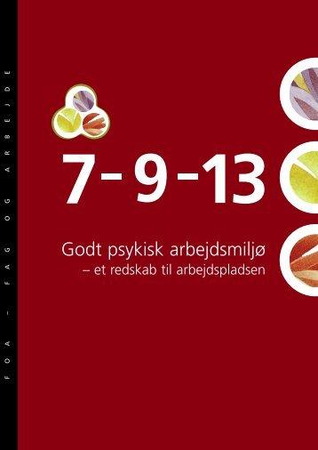 7-9-13 Godt psykisk arbejdsmiljø - FOA