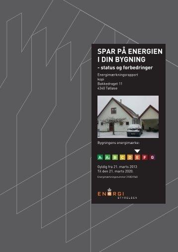 SPAR PÅ ENERGIEN I DIN BYGNING - status og ... - Robin Hus