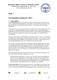 Formandsberetning for 2012. - KlubCMS - DBU