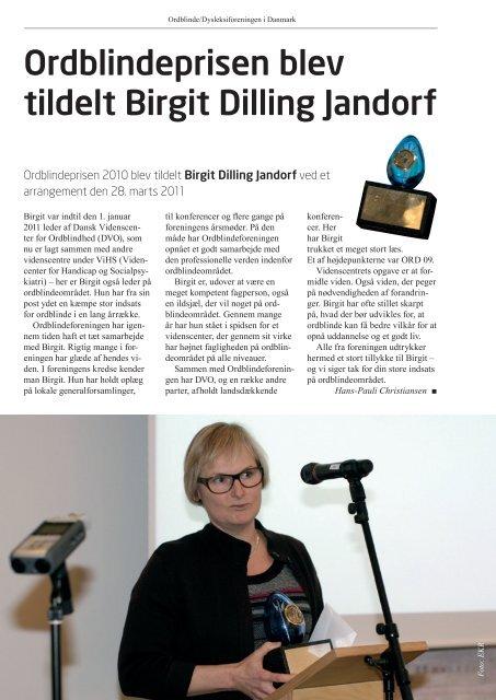 Ordblindebladet nr. 2/2011 - Ordblinde/Dysleksiforeningen i Danmark