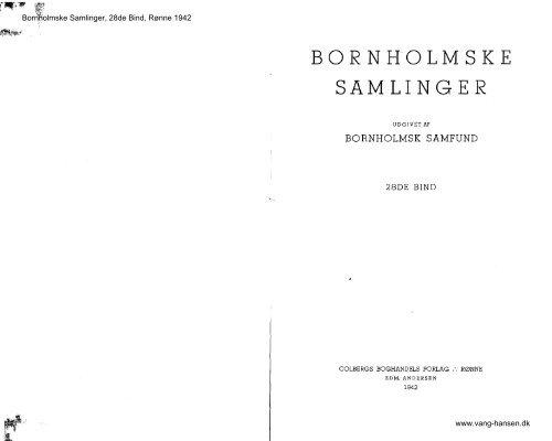 Bornholmske Samlinger - Bind 28 - Bornholms Historiske Samfund