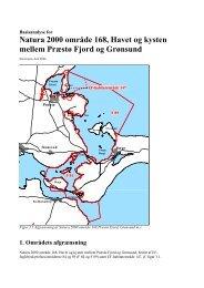 Natura 2000 område 168, Havet og kysten mellem ... - Naturstyrelsen