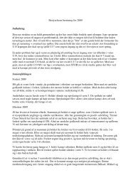 Bestyrelsens beretning for 2009 Indledning. Den nye ... - KlubCMS