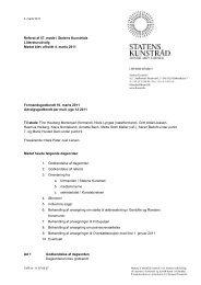 Referat af 57. udvalgsmøde - Kunst.dk