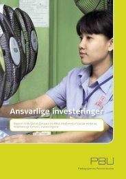 Rapport om samfundsansvar 2010 - PBU