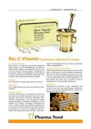 Hent Bio-C-vitamin infosheet - Pharma Nord
