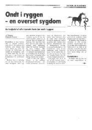 Ondt i ryggen en overset sygdom - Sottrup.net