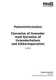 Fjernelse af livmoder ved hjælp af kikkert - Regionshospitalet Randers