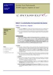 Atelier 6 : La centralisation et la transmission des données