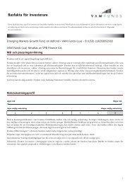 Key Investor Information: LU0293692918 - VPBANK